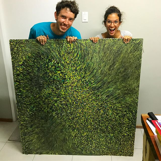Our first of many new recycled plastic sheets✳️🎉 We are extremely happy with our first test of our sheet press. • This opens up so many new doors. We are able to make new products, we are going to recycle much more plastic and create a bigger impact!💚♻️ • This sheet is made of bottle caps from Greenforce, @cocacolakorsou @antilleansoapcompany