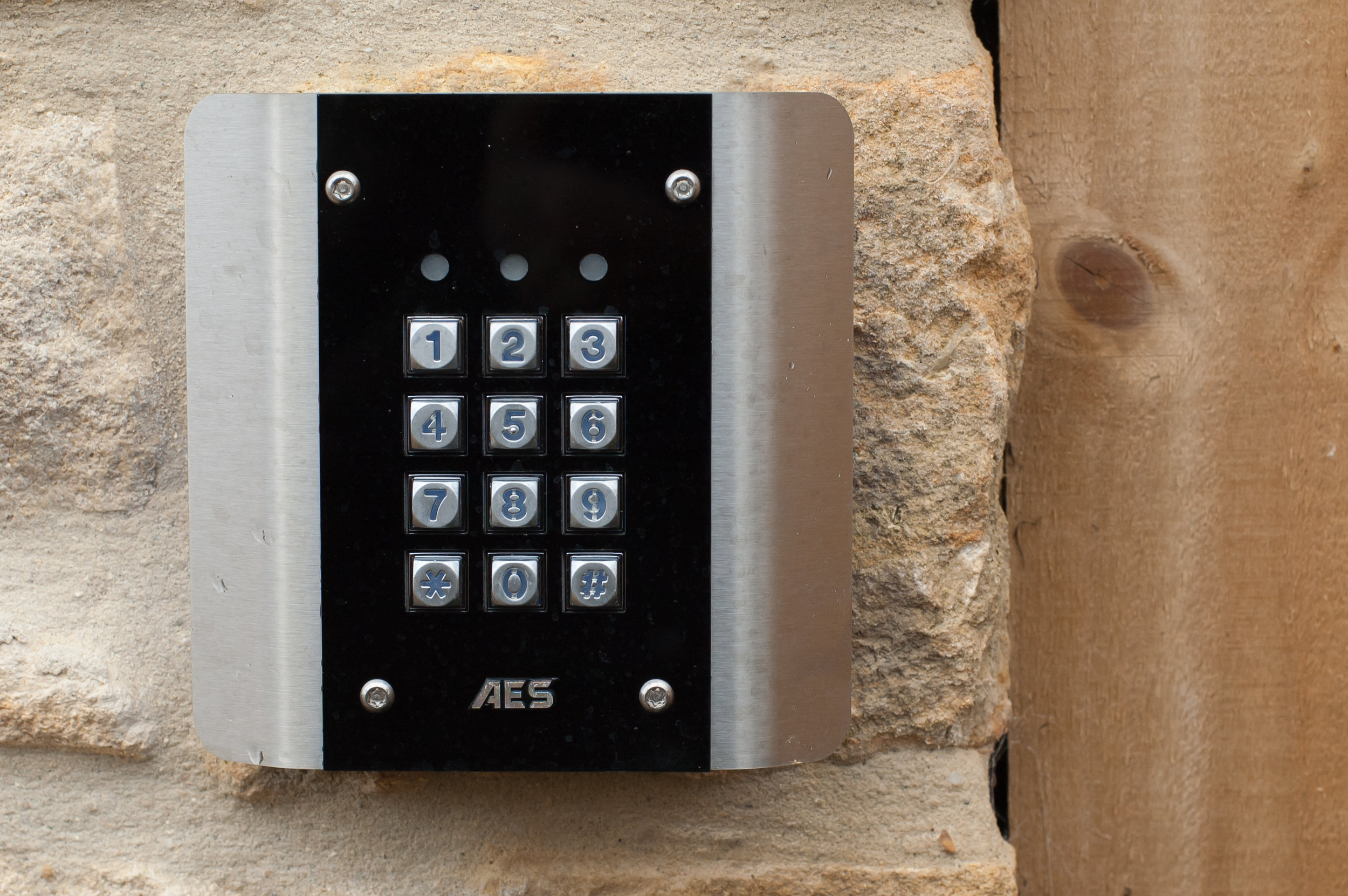 Access control and security - Keypads, intercoms (wireless GSM or hard-wired), proximity fob systems.  Network-managed, push button or magnetic locks.