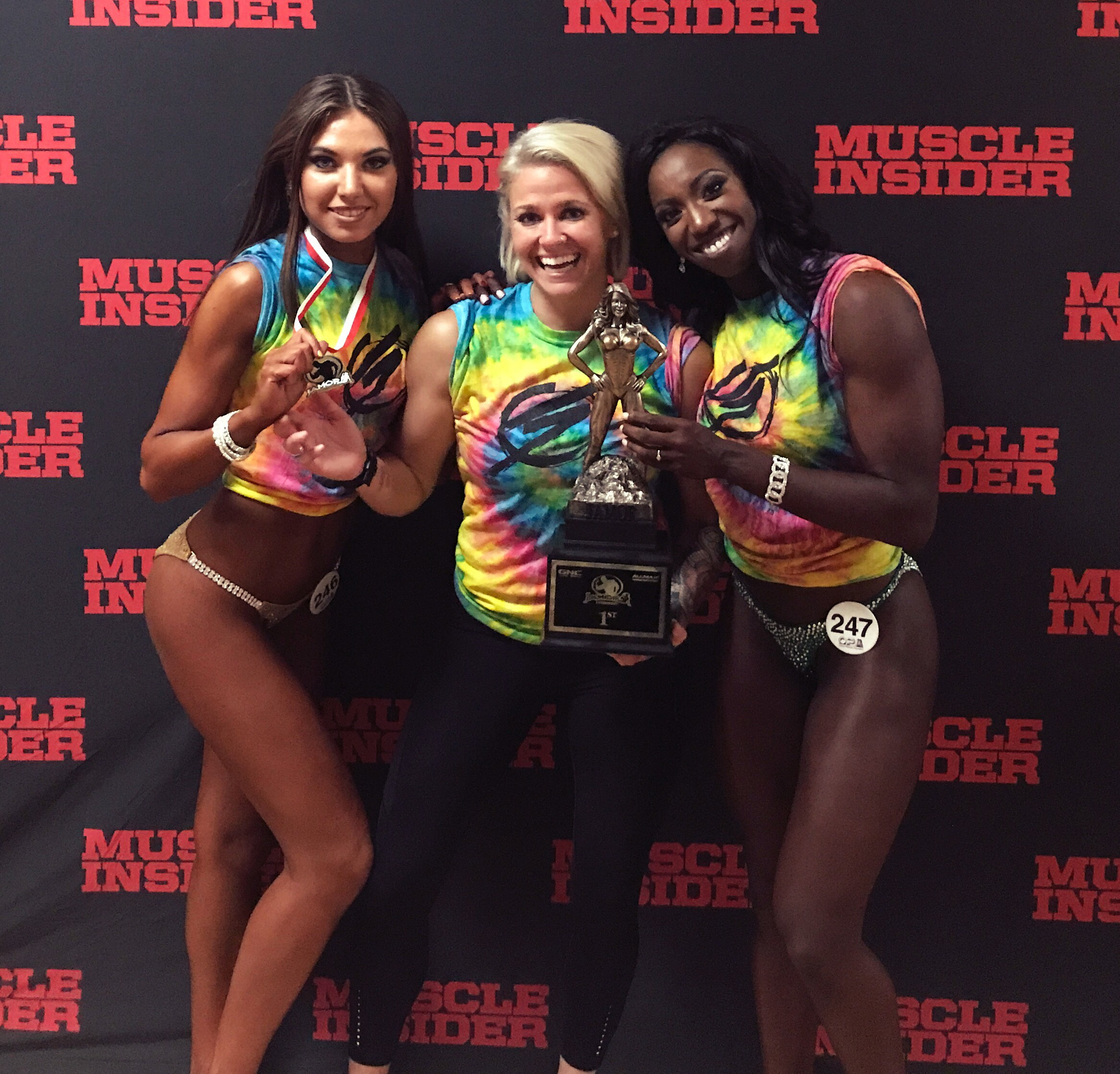 On the left, Alina took 5th in her Bikini class of 20. -On the right,Alishia who placed 1st in her figure class of 7.