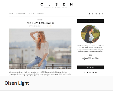 Olsen Light Wordpress Theme