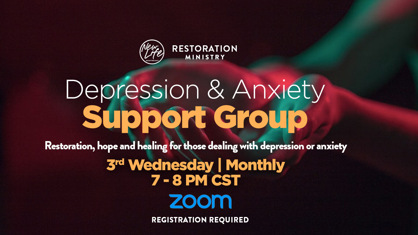 Depression and Anxiety Support Group — New Life Covenant ...