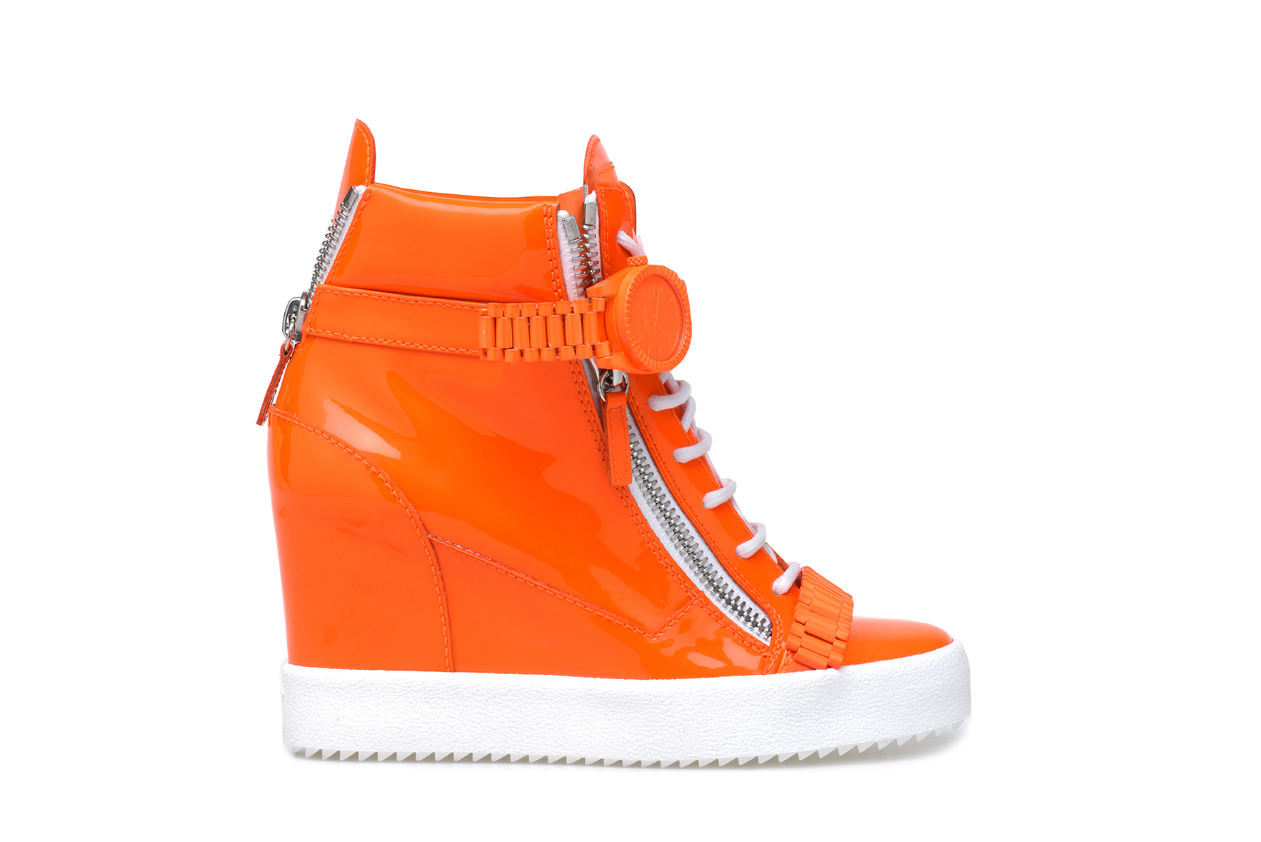 Neon Orange Sneaker. COMING JULY.