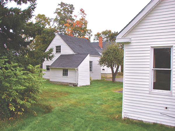 The rear of the October House property