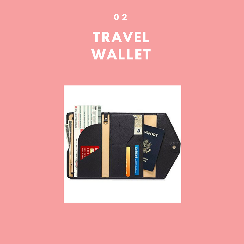 - Whether or not you are traveling or not, every woman needs a compartmentalized wallet. This is a multipurpose trifold wallet, card organizer and document holder. This is perfect to hold your boading passes, passport, ID and money all in one. This will make security and boarding a breeze. This baby is only $6 on Amazon.