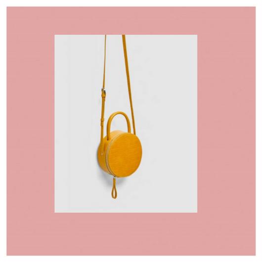 - Zara Round Mini Crossbody Bag$39