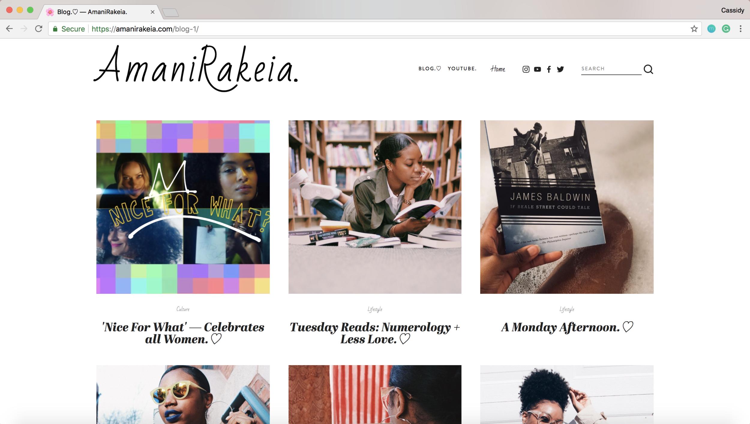 Go check out her blog - https://amanirakeia.com/