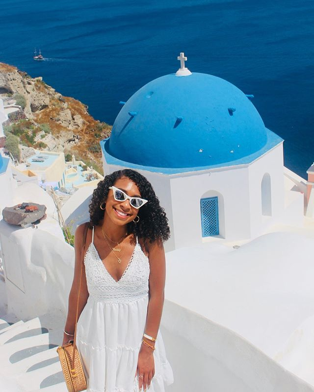 When in Greece • • • • • #Cassinthecity #Citygirl #blogger #blogher #writer #storyteller  #greece #oiasantorini #santorini #travel  #blacktravelfeed #travelista #blackandabroad #traveler #travelphotography