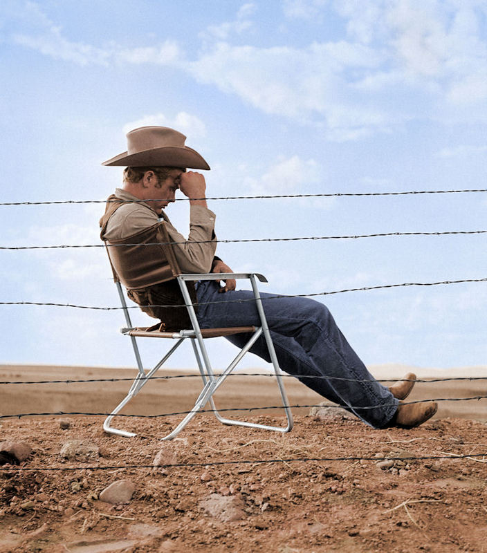 FW0317 James Dean Seated Behind Fence Set of Giant 1955.jpg