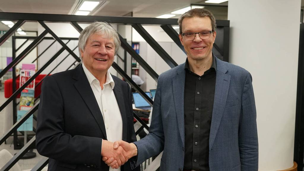 Director of The Alan Turing Institute Adrian Smith and Director of Finnish Center for Artificial Intelligence Samuel Kaski