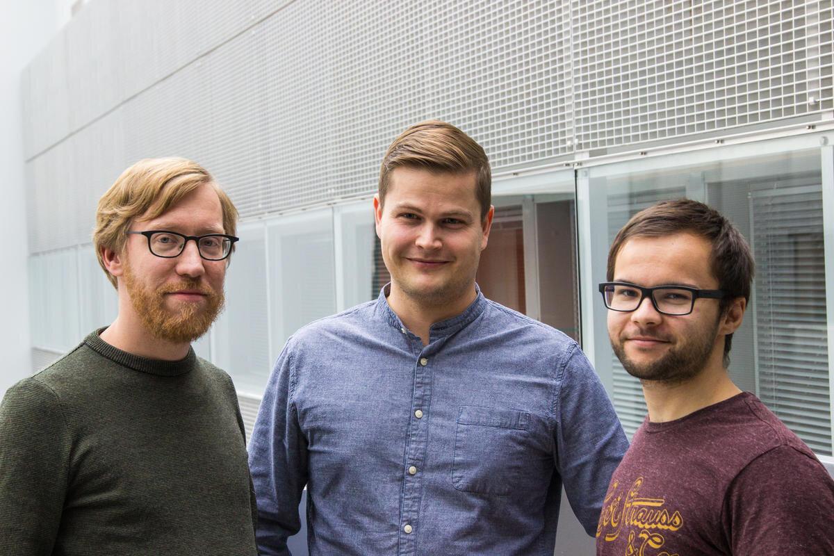 Arto Klami, Mikko Toivonen and Chang Rajani. Photo: Susan Heikkinen