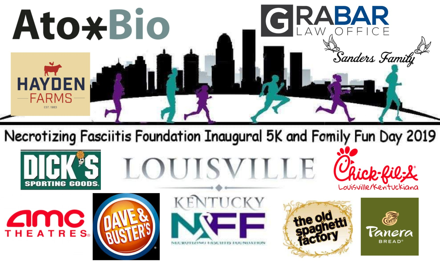 Thank you to all of our sponsors and product donors for helping to make our Inaugural Necrotizing Fasciitis Foundation 5k and Family Fun Day a success. We couldn't have done it without you!