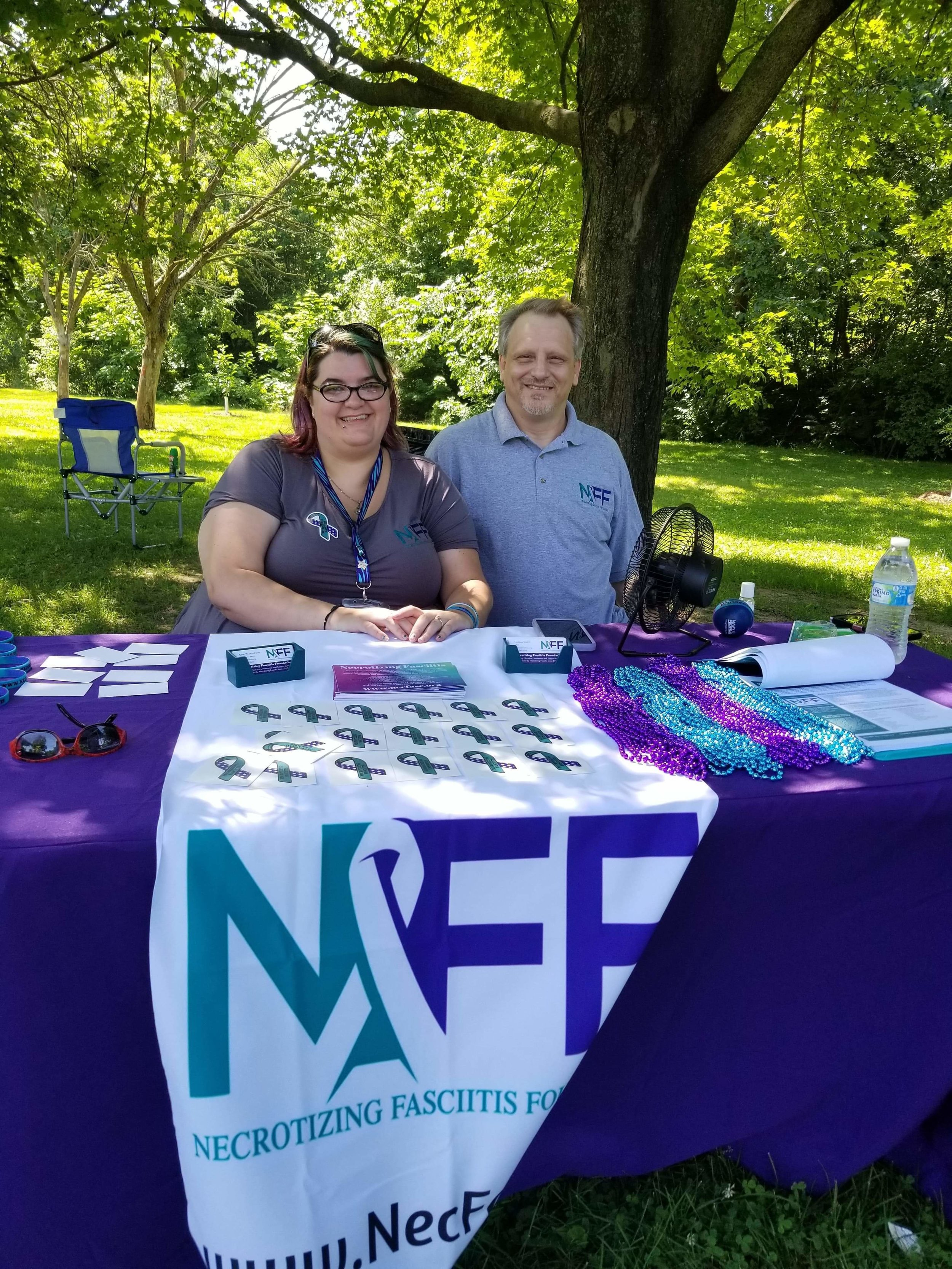 Co-CEOs Lindsay Welch and Tim Hayden at our NFF table.