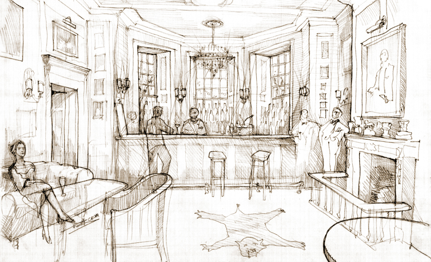 proposal sketch of the American Bar
