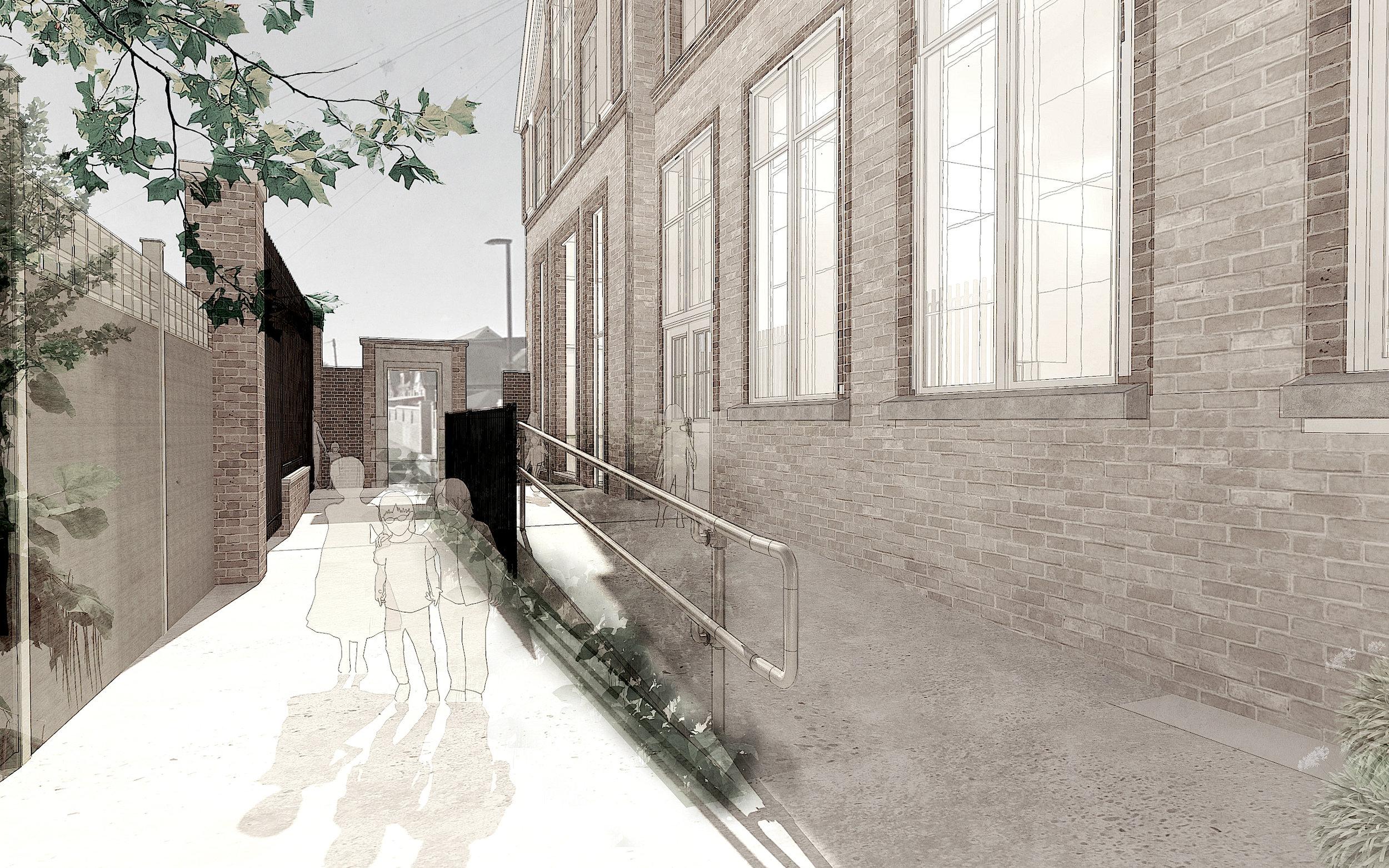 artist interpretation for new main entrance