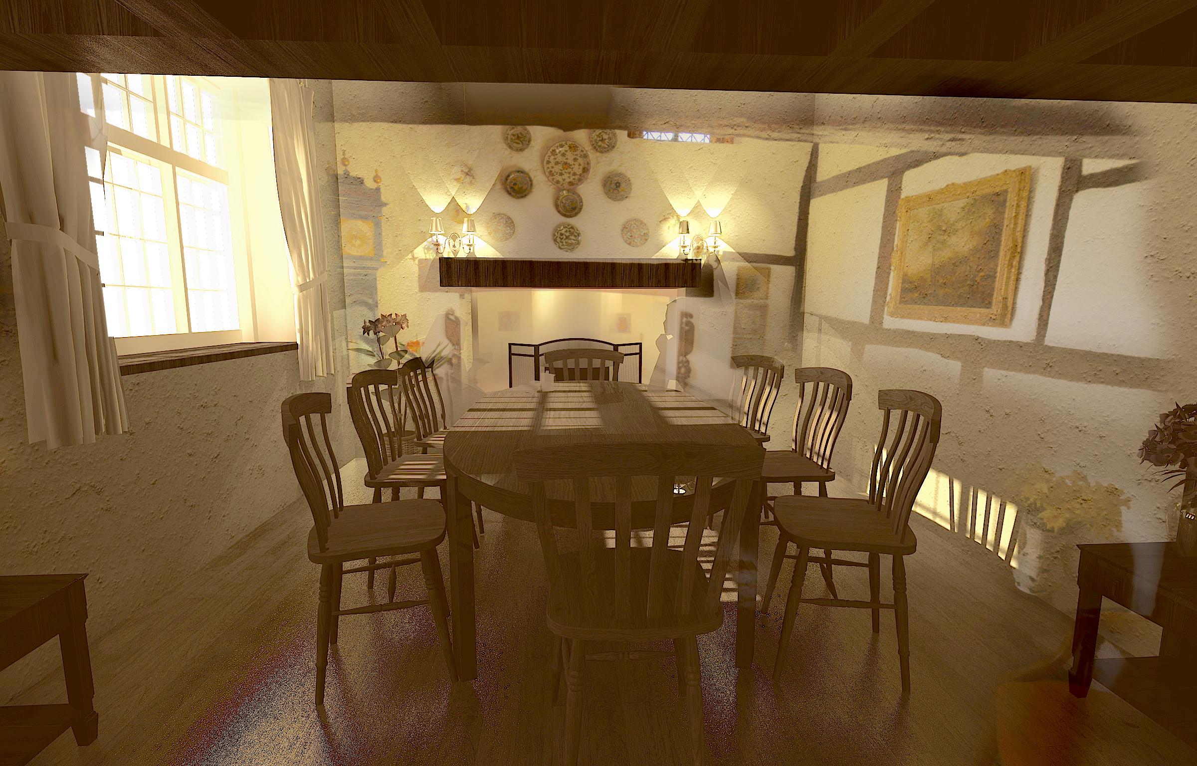 Interior Design for Main Dining Room (Option 2)