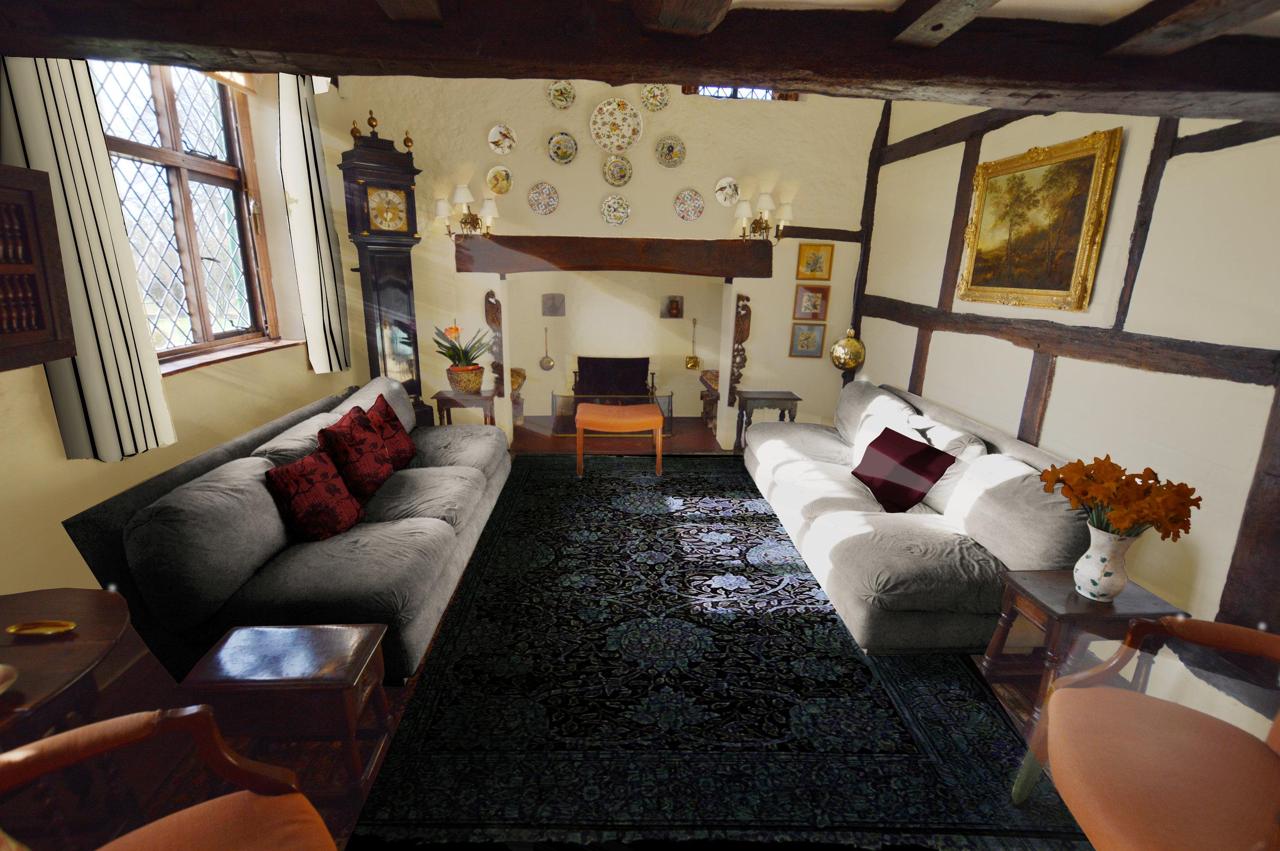 Interior Design for Main Living Room (Option 1)