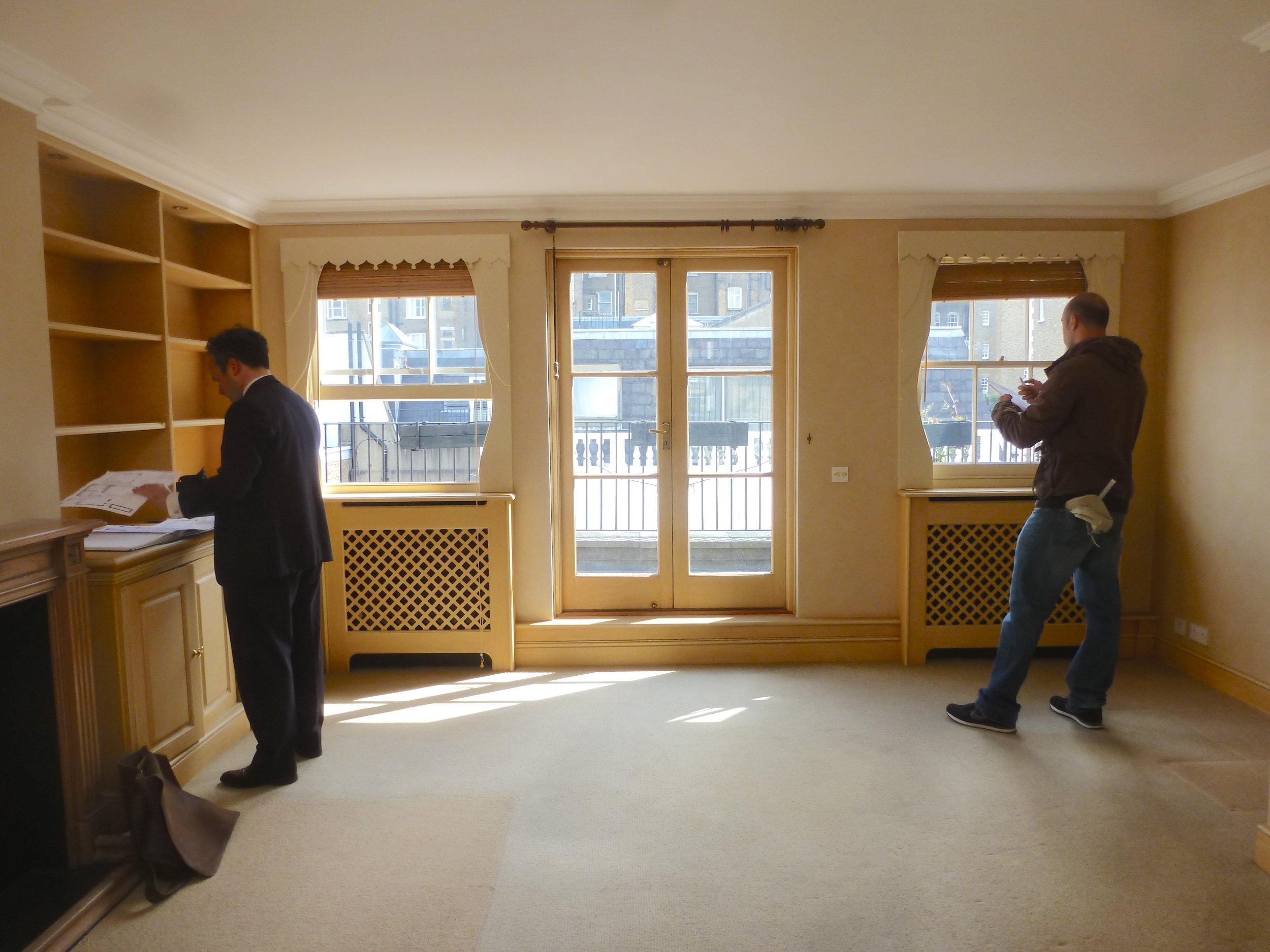 existing third floor reception