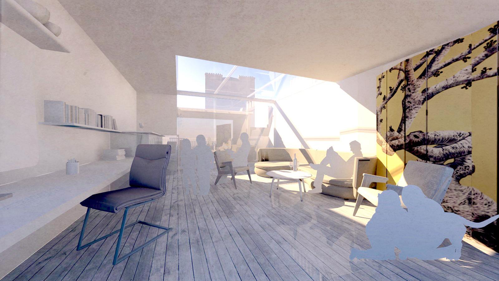 option for third floor during design development