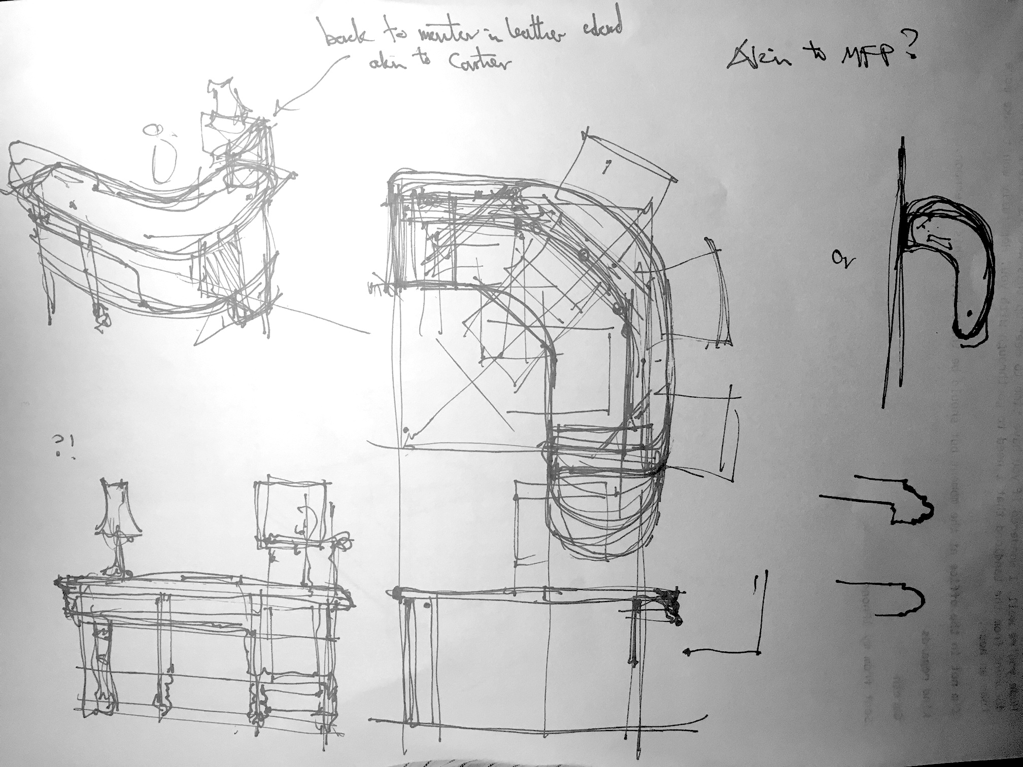 desk design sketches