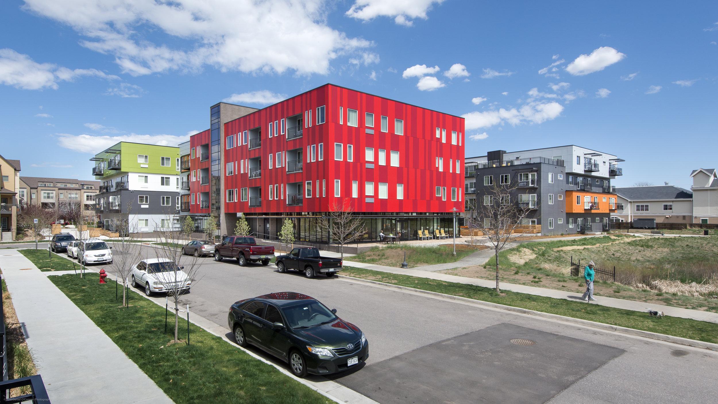 Cityscape at Belmar - 2017 Community Sustainability Award2017 Multifamily Executive Award2017 NAHRO Agency Awards of Excellence2016 Housing Colorado People's Choice Award2016 Colorado NAHRO Affordable Housing Design Award2016 Senior Housing News Architecture & Design Award