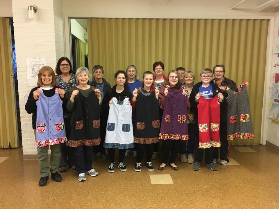 Dress-A-Girl volunteers.