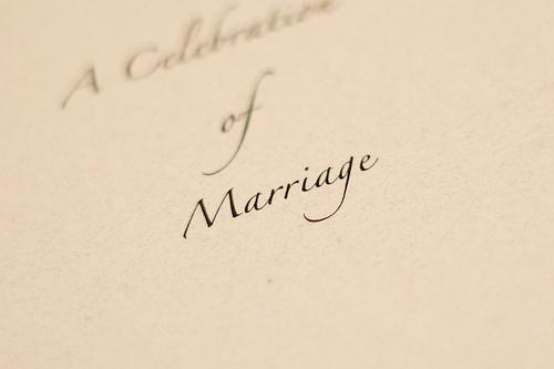 "Photo Credit:""Marriage"",©2008  David Joyce , Flickr   CC-BY-SA   via Wylio"
