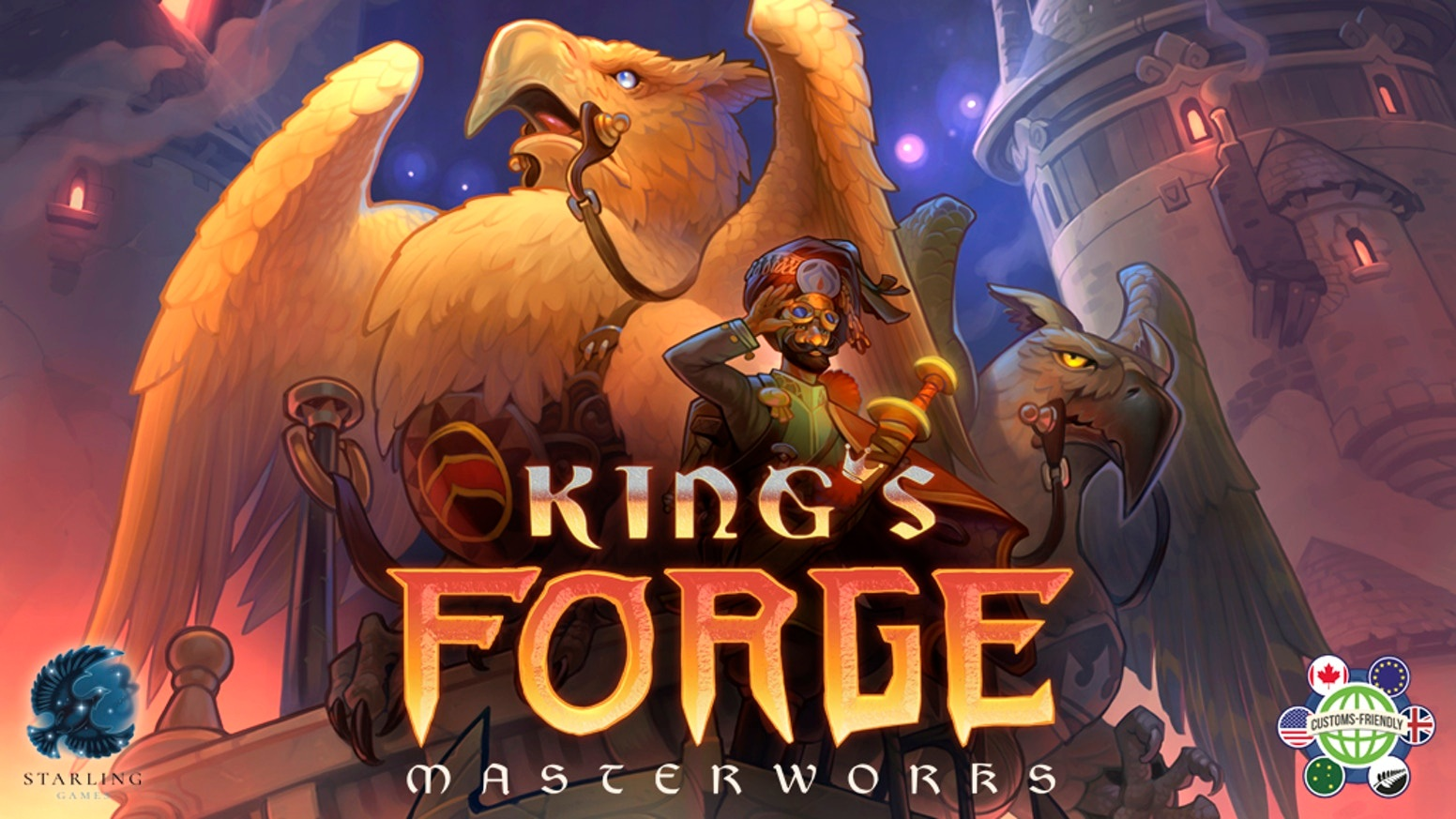 King's Forge: Masterworks  by Starling Games    The griffins have returned—the world has opened to exotic new materials, incredible items, and talented visitors. Adventure calls!    Pre-Order Now