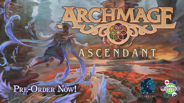 Archmage: Ascendant  by Starling Games    Ascend to new heights in the first expansion to Archmage!    Pre-Order Now