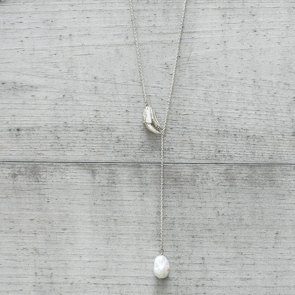 Crab Claw and Pearl Necklace