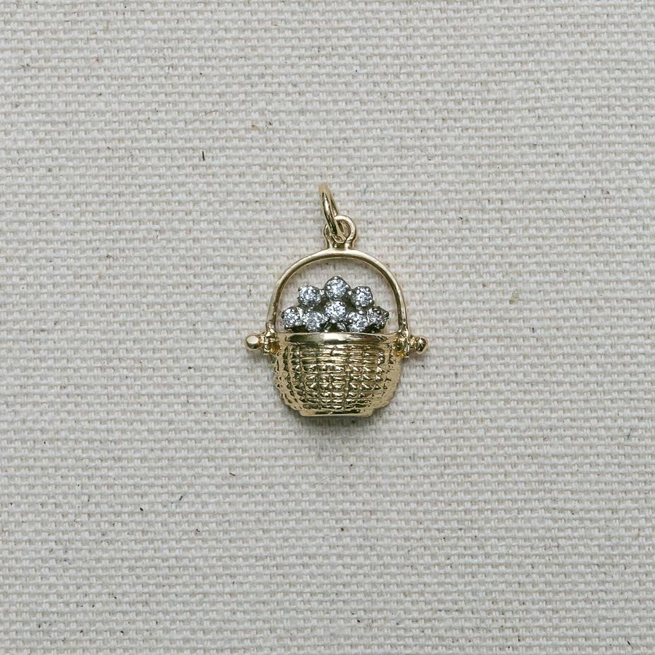 Half Basket with Diamonds Pendant