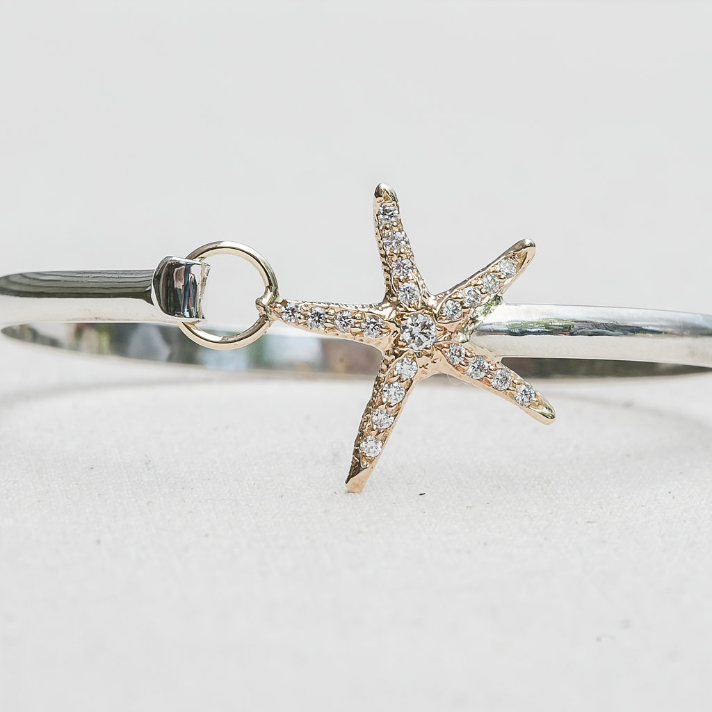 Diamond Starfish Bangle