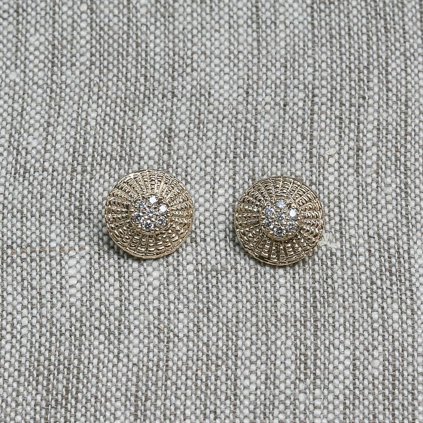 Diamond Basket Top Earrings