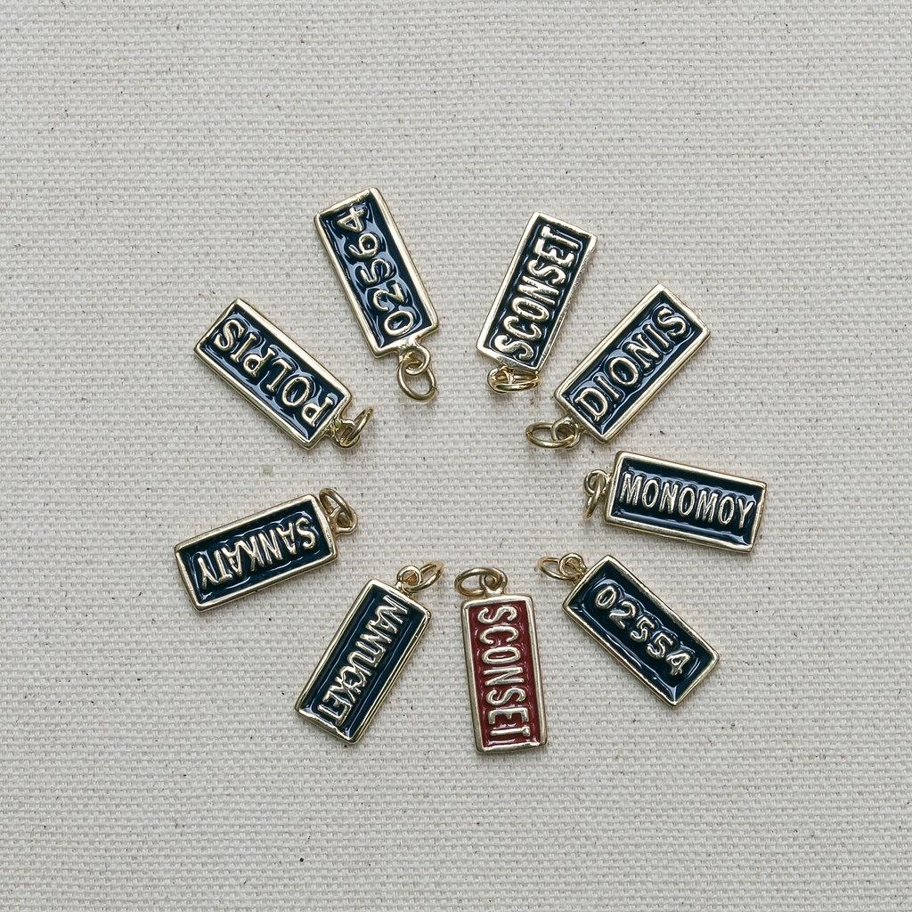 Vanity Plates Pendant