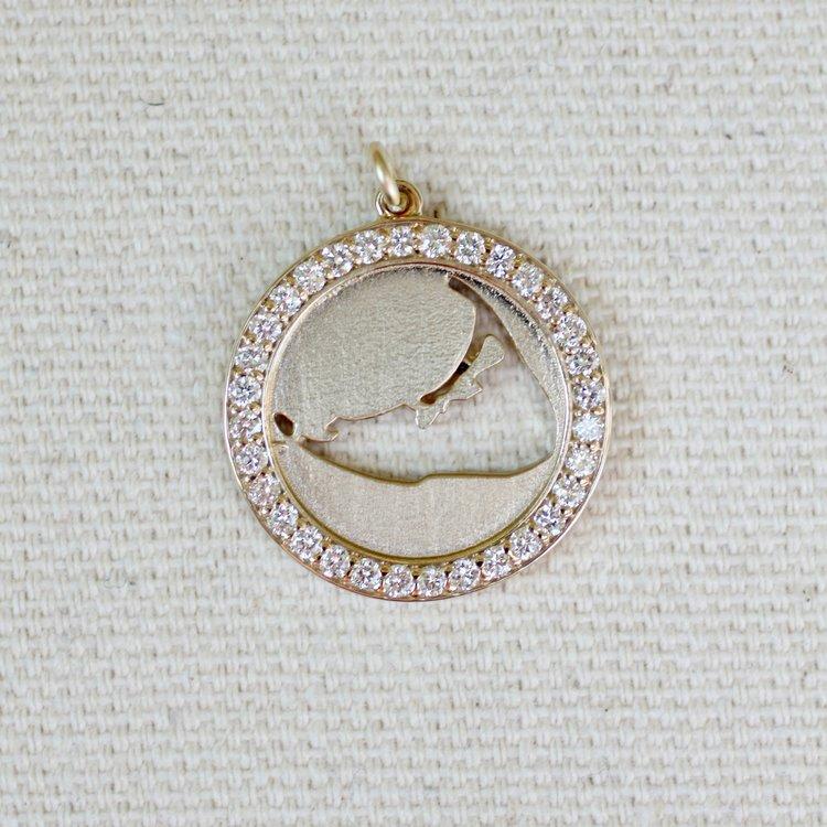 Diamond Map Cut Out Pendant Jewel In The Sea Nantucket