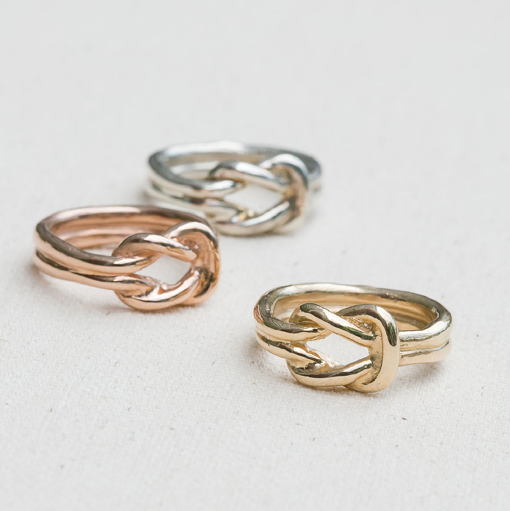 Square Knot Ring Jewel In The Sea Nantucket