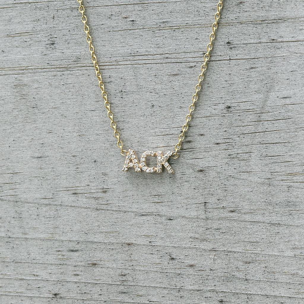 Diamond ACK  Necklace