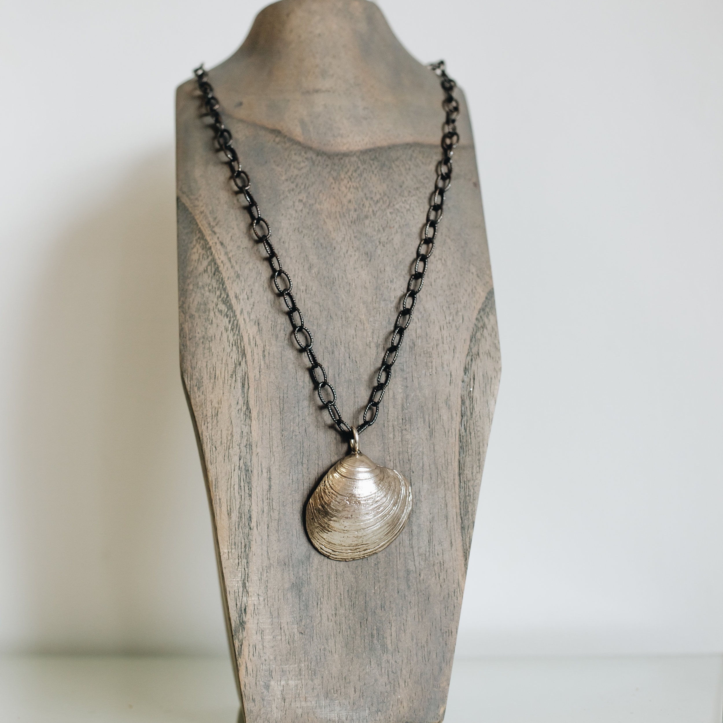Clam Shell and Pearl Necklace