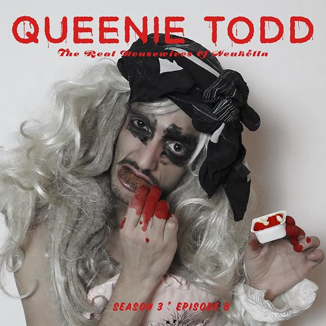 This Friday, our first spooky show of the season arrives with QUEENIE TODD, a full musical spoof of the beloved Stephen Sondheim show of the (almost) same name. Who will survive?! #therealhousewivesofneukölln #sweeneytodd #queenietodd #demon #drug #queen #musical #cabaret #blood #gore #spooky