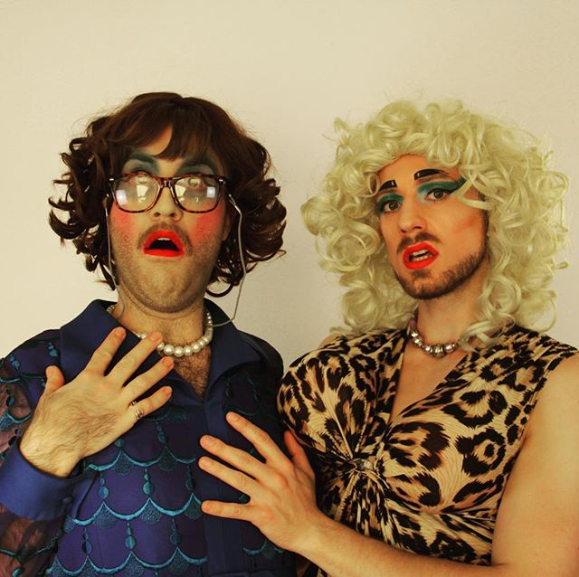 Hope everyone's feeling as frisky as these two foxy ladies today!! #cheryl #viagrafalls #foxy #ladies #feeling #frisky #trash #drag