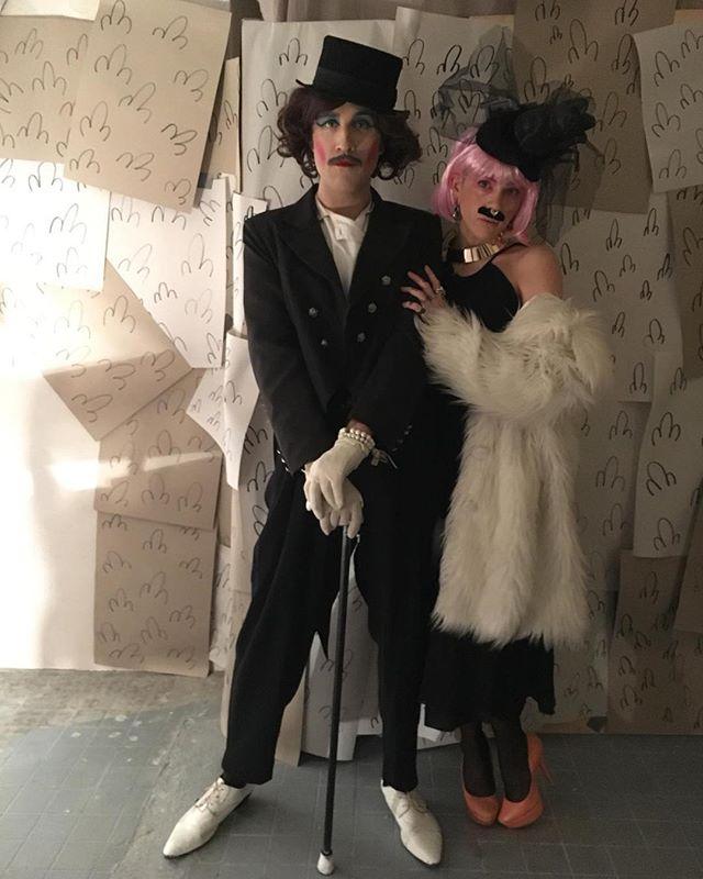 Cheryl & Ida Entity going full Weimar for their performance of Collapsella's 'Kunstwerk' EP over the weekend - sehr schön, no? #sehr #schön #housewife #love #Cheryl #idaentity #collapsella #kunst #werk
