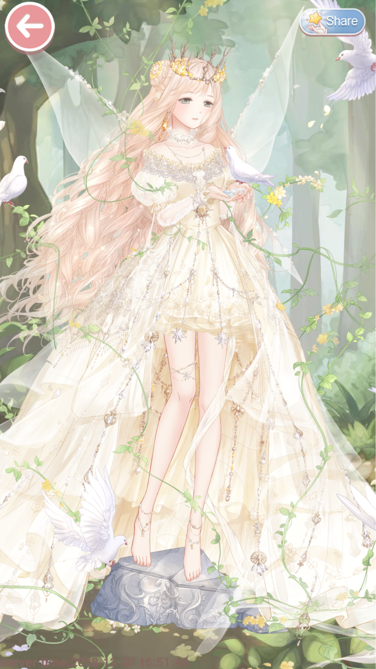 Princess Dawn (Story Suit) set - obtained from an Event