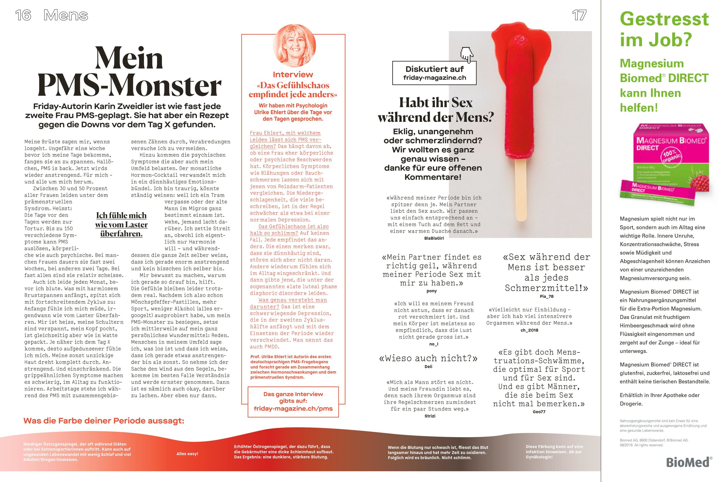 PMS / FRIDAY MAGAZINE 2018 / ERZÄHLSTÜCK