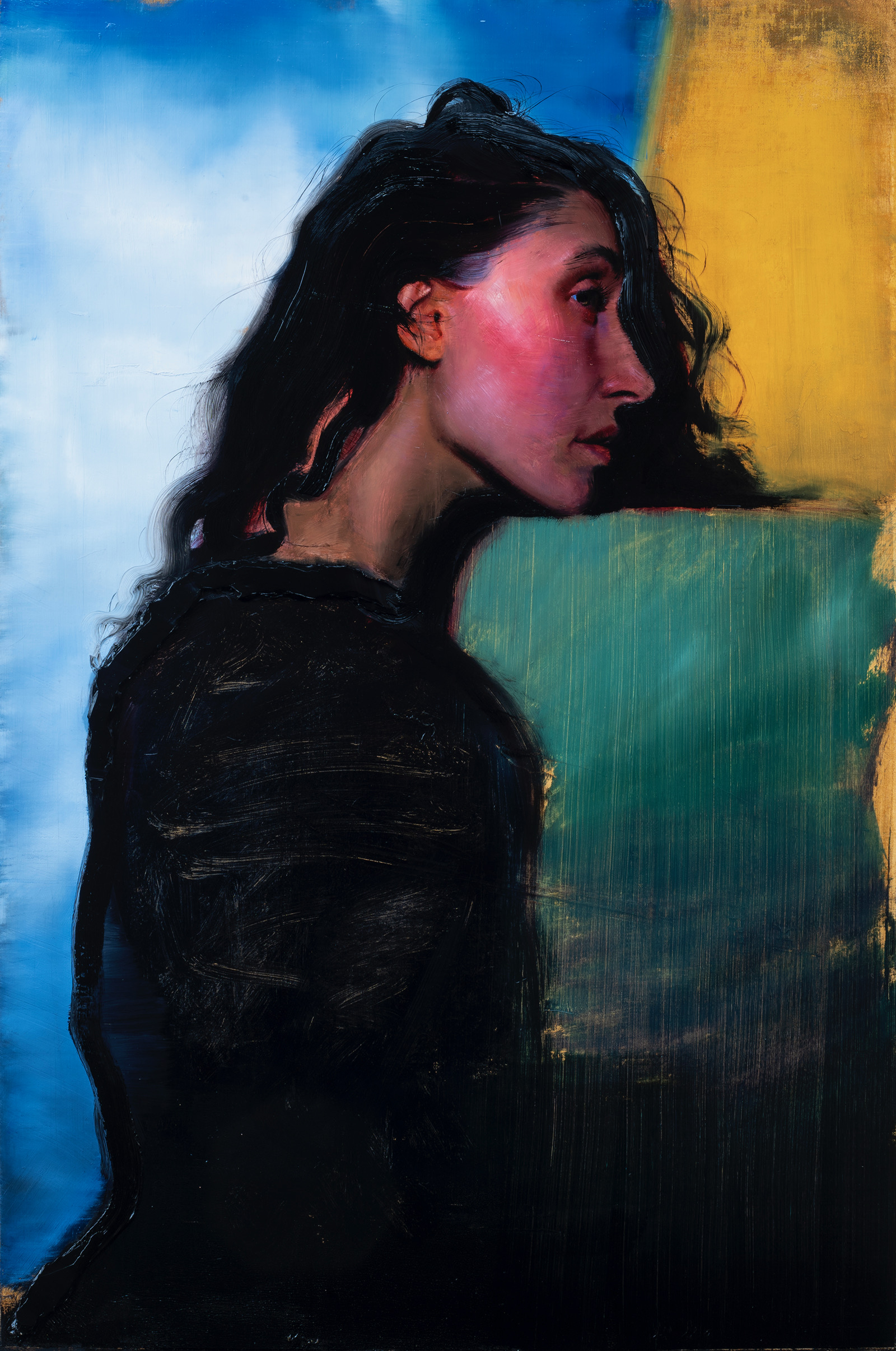 "Dreamy Color Fields, 36x24"""