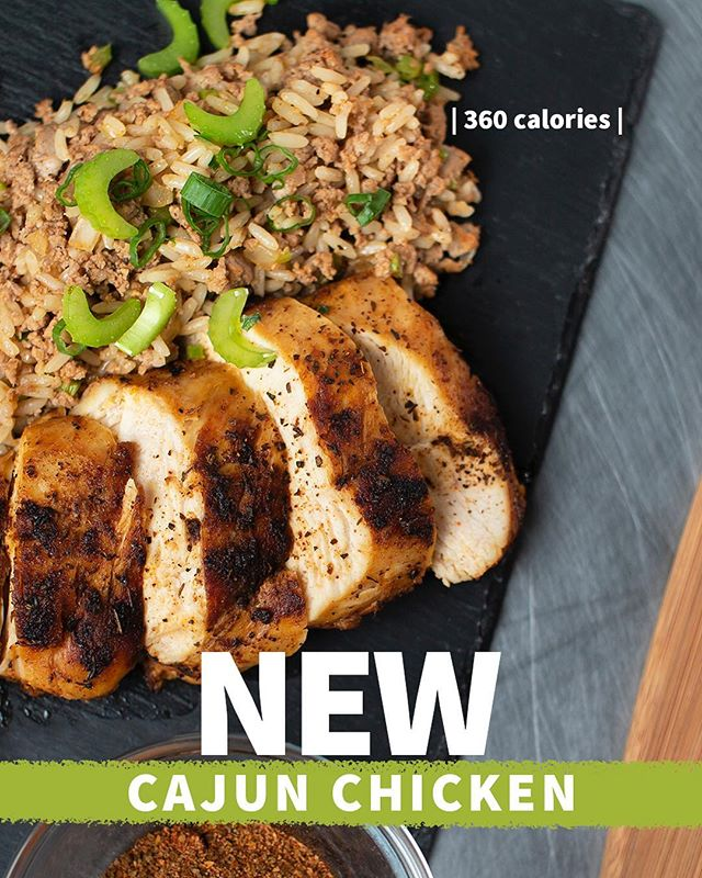 A new meal is in our fridge this week! Stop by to try the NEW Cajun Chicken🤤👆 Tap the address in our bio to find us. 360 calories 42p/28c/8f