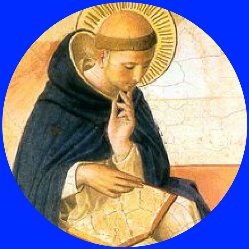 "St. Dominic de Guzman    Feast Day:  August 8   Nation:  Spanish, lived in France and Italy   Dates:  1170 – 1221   Age at Death:  51   Vocation:  Priest   Work:  Preacher of Rosary, Founder of Order of Preachers   ""First"":  Dominican   Course Patron:  History   Quote:  ""Fortiter, fratres! More boldly, my brothers!""   Lesson for Life:  Living always in God's presence makes a person very joyful."