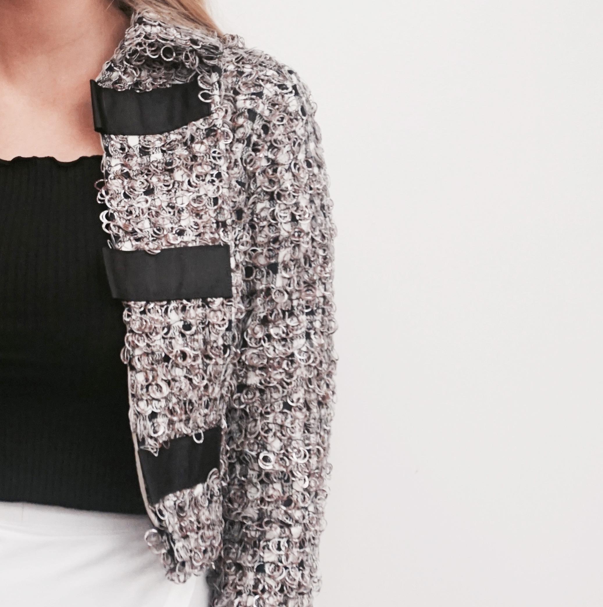 """A closer look at Blanka Nakova Designed Jacket."""