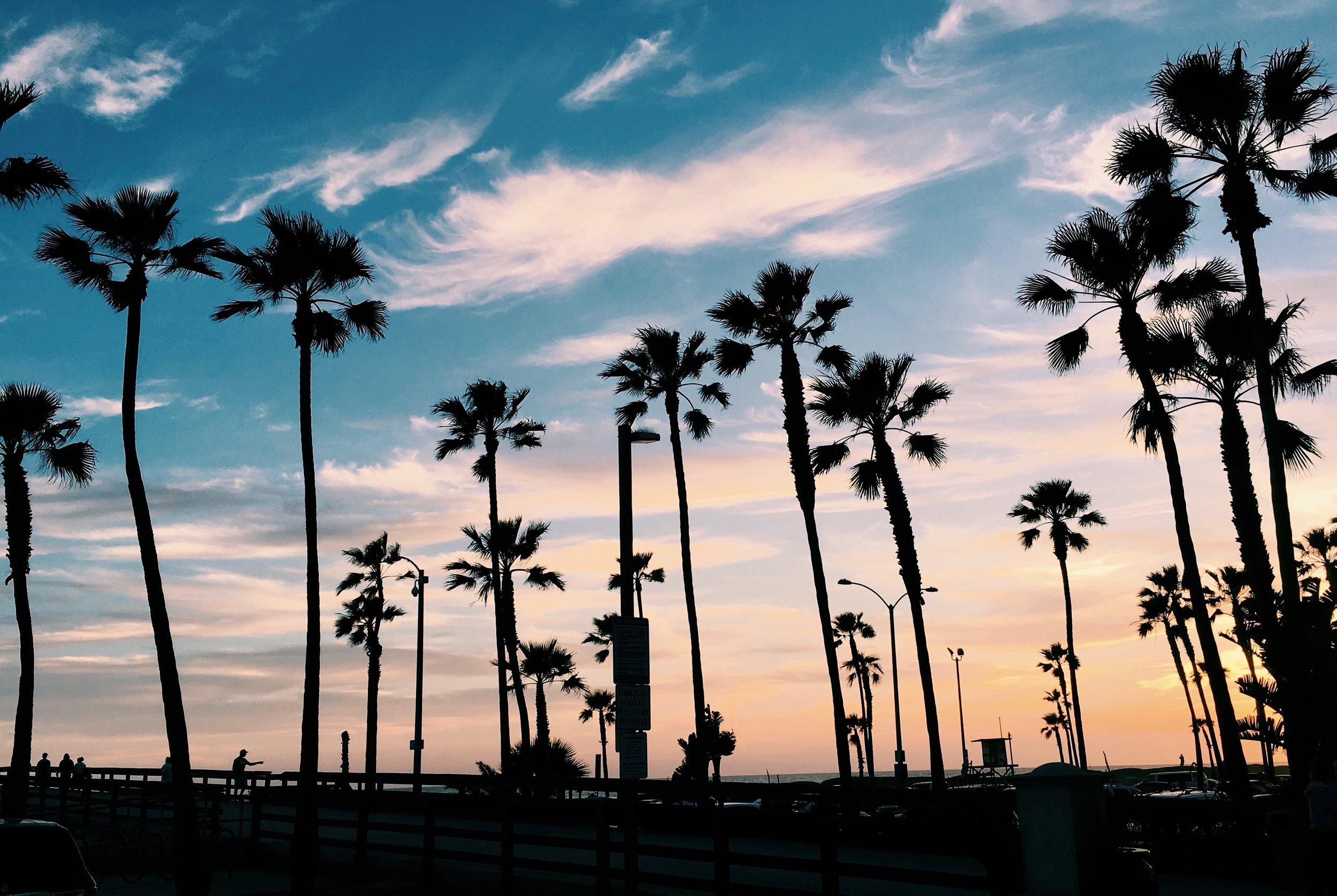 Sunset on Newport Beach -