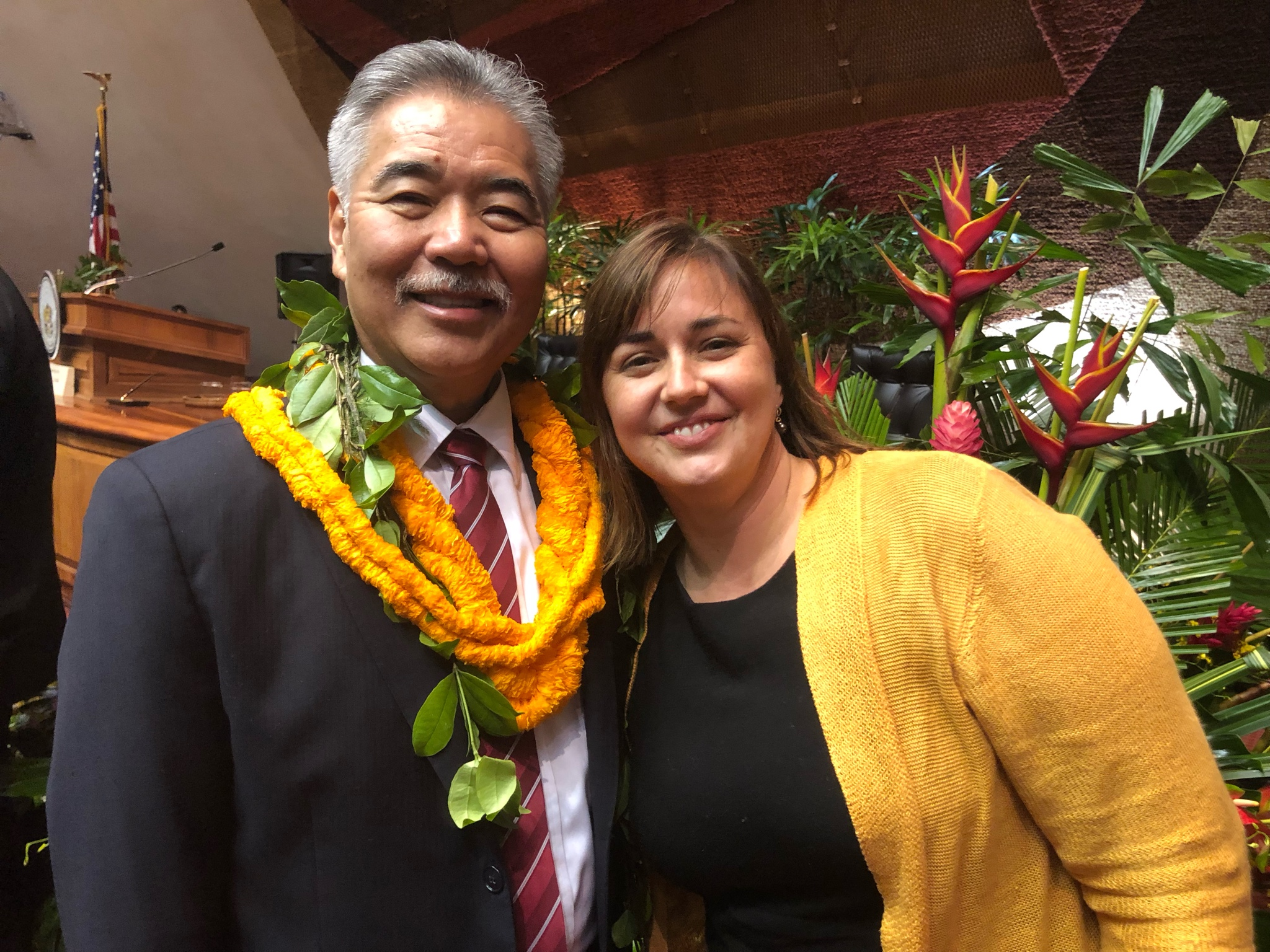 Governor David Ige and Marti townsend, sierra club of hawaiʻi director