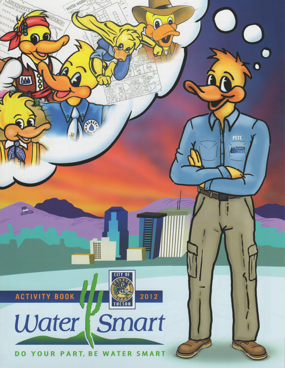 """Each student receives a Water Smart Kids activity booklet and """"Brush Up Cup"""" allowing them to reduce their water usage while brushing their teeth."""