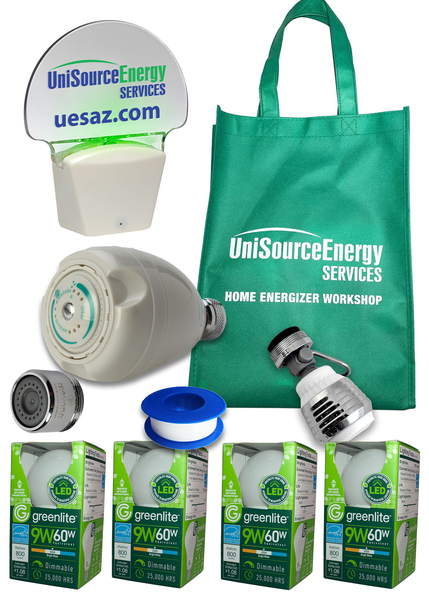 Each participant receives an Energy Efficiency Kit.